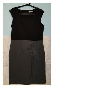 Calvin Klein Size 12 Sheath Wrap Knee Length Dress